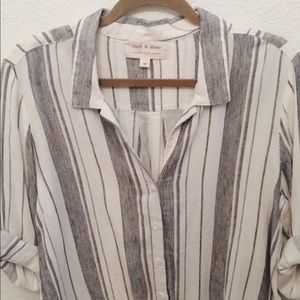 Urban Outfitters Striped Button-Up